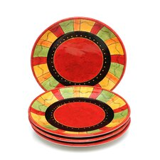 "Caliente by Joy Hall 10.75"" Dinner Plate (Set of 4)"