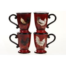 Avignon Rooster 16 oz. Mug (Set of 4)