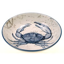 "Coastal Postcards 13.25"" Serving Pasta Bowl"