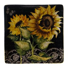 "French Sunflowers 12.25"" Square Platter"