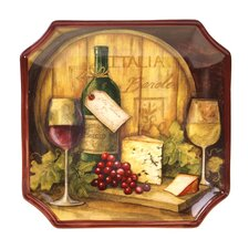 "Wine Map 12.5"" Square Platter"