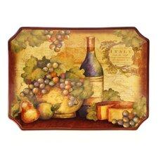 "Wine Map 16"" Rectangular Platter"