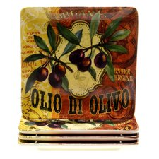 "Olio Di Oliva 10.5"" Dinner Plate (Set of 4)"