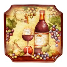 "Wine Map 14.5"" Square Platter"