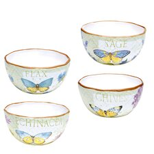 "Herb Garden 6"" Ice Cream Bowl (Set of 4)"