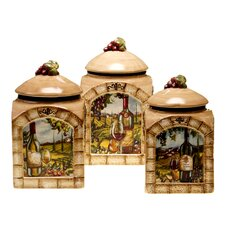 Tuscan View 3 Piece Canister Set
