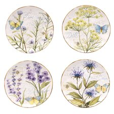 "Herb Garden 8.75"" Dessert Plates (Set of 4)"