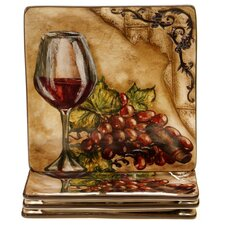 "Tuscan View 8.5"" Dessert Plate (Set of 4)"