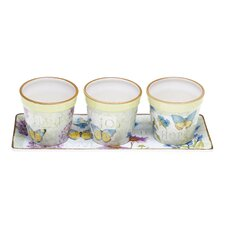Herb Garden Mug Set with Tray