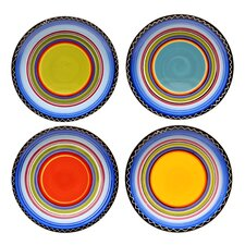 "Tequila Sunrise 11"" Dinner Plate (Set of 4)"