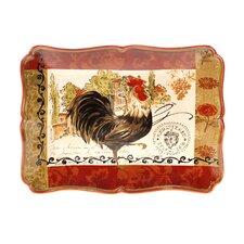 "Tuscan Rooster 16"" Rectangular Platter"