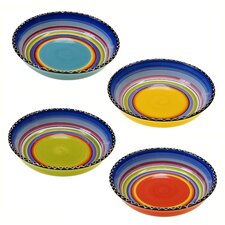 "Tequila Sunrise 9.25"" Soup / Pasta Bowl (Set of 4)"