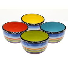 "Tequila Sunrise 5.25"" Ice Cream Bowl (Set of 4)"