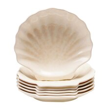 "Coastal Moonlight 8"" Shell Plate (Set of 6)"