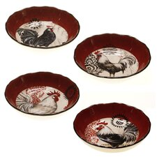 "Fancy Rooster8.25"" Soup / Pasta Bowl (Set of 4)"