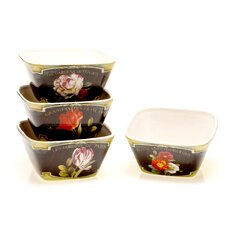 "Garden View 5"" Ice Cream Bowl (Set of 4)"
