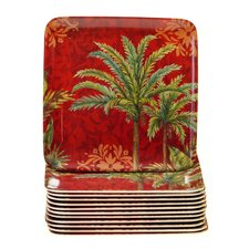 "Sunset Palm 6"" Canape Plate (Set of 12)"