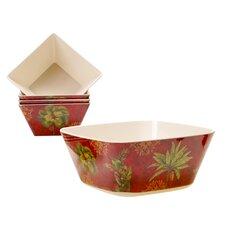 Sunset Palm 5 Piece Salad Serving Set