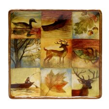 "Lakeside Lodge 12.5"" Square Platter"