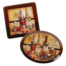 Estate Wine 2 Piece Platter Set