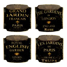 "Garden View 6"" Canape Plates (Set of 4)"