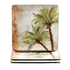 "Key West 10.5"" Square Dinner Plate (Set of 4)"