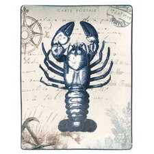 "Coastal Postcards 16"" Rectangular Platter"