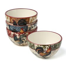 Lille Rooster by Geoffrey Allen Ice Cream Bowl (Set of 4)