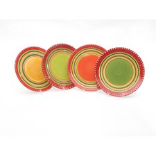 <strong>Certified International</strong> Hot Tamale Salad Plates (Set of 4)