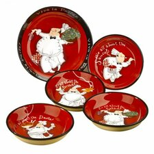 <strong>Certified International</strong> Viva La Pasta 5 Piece Pasta Set by Tracy Flickinger