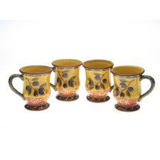 <strong>Certified International</strong> French Olives 18 oz. Mug (Set of 4)