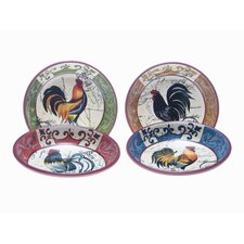Lille Rooster by Geoffrey Allen Soup/Pasta Bowl (Set of 4)