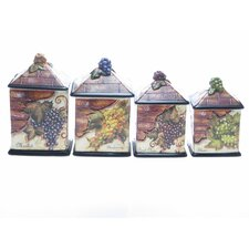 Wine Cellar by Tre Studios 4 Piece Canister Set