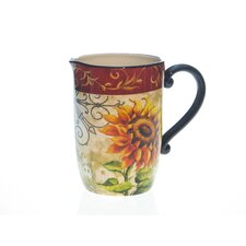 Tuscan Sunflower 3 Quart Pitcher by Tre Sorelle