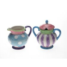 Cupcake by LoriLynn Simms Sugar and Creamer Set