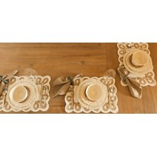 <strong>Certified International</strong> Firenze Ivory Dessert Plate by Pamela Gladding (Set of 4)