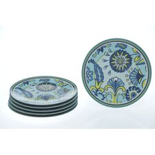 "<strong>Certified International</strong> Capri Blue by Jennifer Brinley 9"" Plate (Set of 6)"
