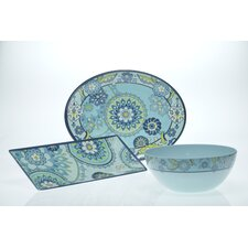 Capri Blue by Jennifer Brinley 3-Piece Serving Set