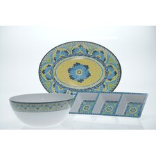 <strong>Certified International</strong> Mexican Tile 3-Piece Serving Set