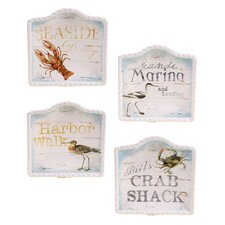 "Beach Cottage 6"" Canape Plate (Set of 4)"