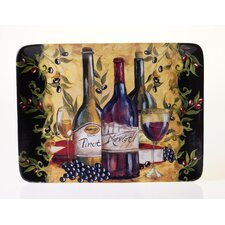 "Wine and Cheese Party 16"" Rectangular Platter"