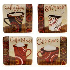"Cup Of Joe 8.25"" Dessert Plate (Set of 4)"