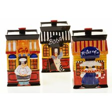 Trattoria 112 oz. Canister (Set of 3)