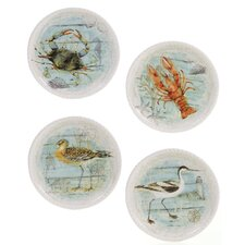 "Beach Cottage 8.75"" Dessert Plate (Set of 4)"