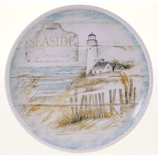 "Beach Cottage 16"" Round Platter"