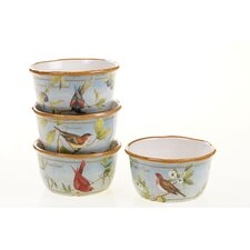 "Botanical Birds 5.5"" Ice Cream Bowl (Set of 4)"