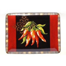 "Chili Pepper 16"" Rectangular Platter"