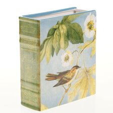"Botanical Birds 7.25"" x 3"" x 8.25"" 3-D Bookcase Vase"