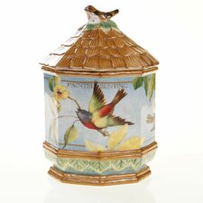 "Botanical Birds 12"" 3-D Cookie Jar"