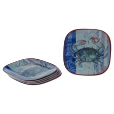 "Blue Crab by Geoff Allen 8.5"" Plate (Set of 6)"